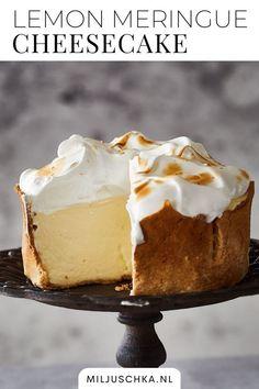 Baking Recipes, Cake Recipes, Lemon Meringue Cheesecake, Sweet Bakery, Sweets Cake, Happy Foods, Pie Dessert, Pretty Cakes, Cake Cookies