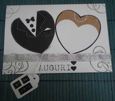 Bella idea per una card di matrimonio, da provare sia con le punches che con le fustelle della BigShot..