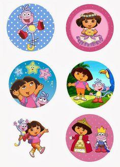 """Folie du Jour Bottle Cap Images: Dora the Explorer Free 1"""" inch digital bottle cap images"""