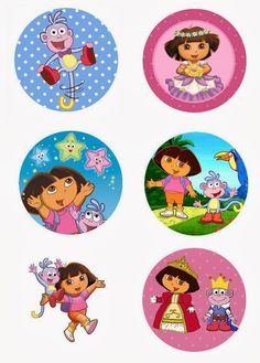 "Folie du Jour Bottle Cap Images: Dora the Explorer Free 1"" inch digital bottle cap images"