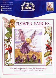 Cross stitch - fairies: Wild Thyme fairy - Cicely Mary Barker (free pattern with chart)