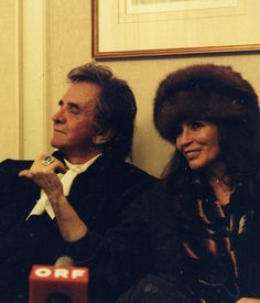 holocenepicture:  Johnny and June in their later years.