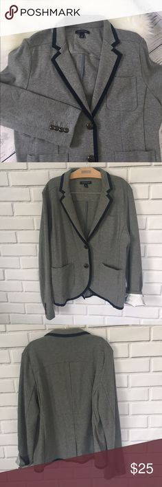 Land's End Blazer Size 14  Lands End Blazer with navy edging.  Great condition!  Pretty Buttons. Lands' End Jackets & Coats Blazers