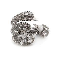 Gilda Claw Bracelet Antique Rhodium