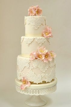 #Vintage Wedding Cake - 3 tier... Wedding ideas for brides & grooms, bridesmaids & groomsmen, parents & planners ... itunes.apple.com/... The Gold Wedding Planner iPhone App ♥