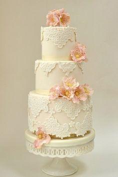 image of Fondant Gâteaux de mariage ♥ Gâteau de mariage de cru