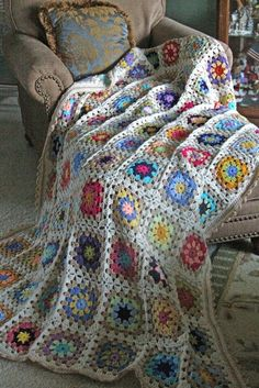 Priscillas: Summer garden granny is finished !.