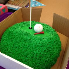 40th birthday for a golfer This is a 10 yellow cake with