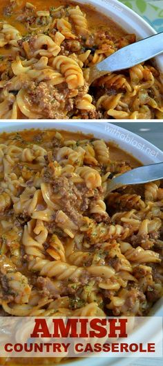 Best Amish Recipes Delicious, creamy Amish Country Casserole ~ economical recipe enough for 8 - 10 servingsDelicious, creamy Amish Country Casserole ~ economical recipe enough for 8 - 10 servings Beef Dishes, Pasta Dishes, Food Dishes, Main Dishes, Best Amish Recipes, Favorite Recipes, Family Recipes, Casserole Dishes, Casserole Recipes