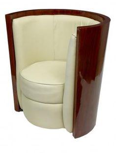 pair art deco tub arm chairs seats art deco era furniture