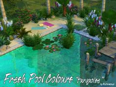 Fresh Pool Colours turquoise by Waterwoman at Akisima via Sims 4 Updates