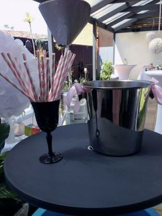 Straws for piccolos 'thank you cheerleaders party' (end of cancer treatment)