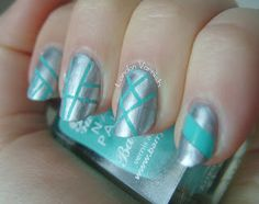 Striping Tape: Mint and Silver From LondonVarnish
