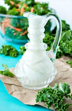 Creamy Feta Dressing :: Would you believe me if I said I loved it more than Ranch!? SO GOOD!
