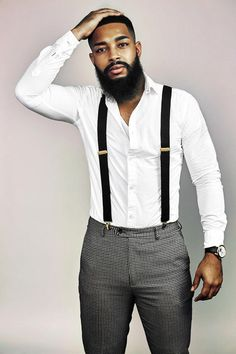 """Photo by Chaunna Henry Black Men With Beards is proud to announce KEITH WILLIAMS as our 2017 Bear Of The Year Winner! April"""" is a full time photographer and factory work who enjoys the art of barbering, working out, and in his spare tim Black Men Beards, Handsome Black Men, Black Man, Bart Styles, Mode Man, Beard Game, Beard Styles For Men, Herren Outfit, Trendy Hairstyles"""