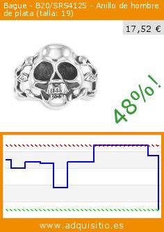 Bague - B20/SRS4125 - Anillo de hombre de plata (talla: 19) (Joyería). Baja 48%! Precio actual 17,52 €, el precio anterior fue de 33,70 €. http://www.adquisitio.es/otros/bague-b20srs4125-anillo-0
