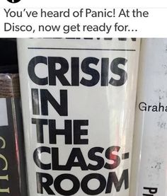 Crisis! In The Classroom: I Write Fanfics Not Essays. (#either way it's still a tragedy)