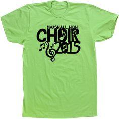 choir note music treble clef High School T-shirts Tees Custom Tshirts