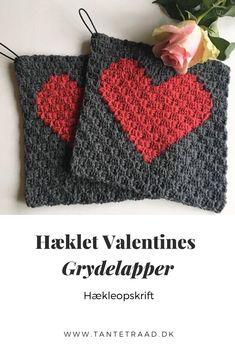 Corner To Corner Crochet, Valentine's Day, Pot Holders, Towels, Throw Pillows, How To Make, Breien, Valentine's Day Diy, Valentines Day