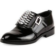 Roger Vivier Patent Leather Zip Oxford
