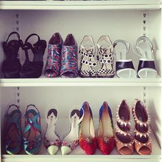 love this shoe collection and closet.