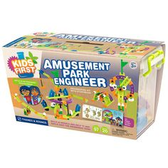 Amusement Park Engineer - Game is listed for ages 3+, reviews say it is better suited for 6-9 year olds.  Looks fun!