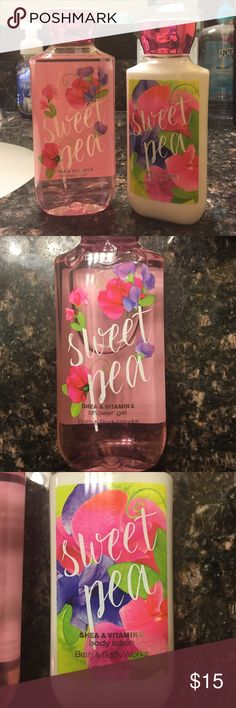 Bath and Body Sweet Pea Bundle  Brand new! Sweet pea shower gel and lotion. Bath and Body Works  Other