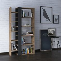There is nothing you would want more than a cute bookcase if you a bookworm. Read below to get some inspirational DIY bookcase/bookshelves ideas. Steel Bookshelf, Wood Bookshelves, Cube Bookcase, Etagere Bookcase, Wood Shelves, Shelving, Modern Bookcase, Diy Bookshelf Design, Creative Bookshelves