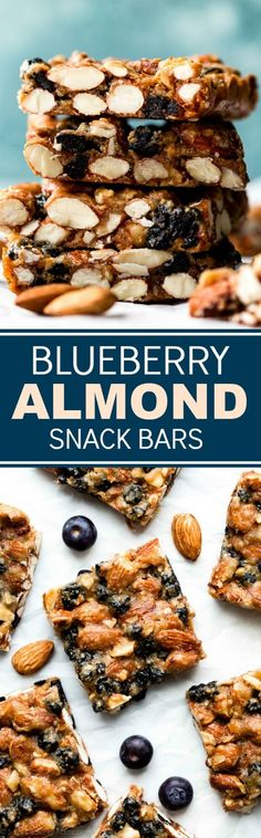 1 bowl and 7 REAL FOOD ingredients are all you need to make these freezer friendly gluten free blueberry almond snack bars!