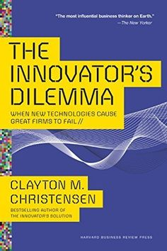 The Innovator's Dilemma Paperback. The bestselling classic on disruptive innovation, by renowned author Clayton M. His work is cited by the world's best-known thought leaders, from Steve Jobs to Malcolm Gladwell. Disruptive Innovation, Disruptive Technology, New Technology, Innovation Books, Good Enough, Malcolm Gladwell, Steve Jobs, Got Books, Books To Read