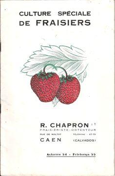 Chapron, Roland : Culture spéciale de Fraisiers-uit Caen (F), catalogus 1954-55 met beschrijving van meer dan 100 rassen.