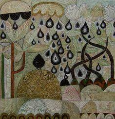 Blackbird in the rain « Scottish Contemporary Art   Ian and Hilke MacIntyre