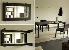 folding dining table transformers into a mirror from porada 1 It is not a mirror   it is not a table, so what kind of this ?