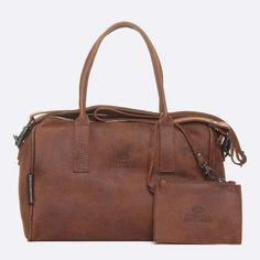 Fred de la Bretoniere handmade brown leather tote - with wallet attached to interior