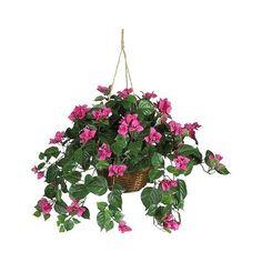 Wicker Basket Silk Flower Arrangement
