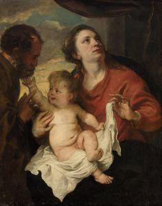 The Holy Family / La Sagrada Familia // ca. 1626-1628 // Anthony van Dyck // Kunsthistorisches Museum Wien