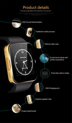 support English, French, Spanish, Polish, Portuguese, Italian, German, Dutch, Turkish, Russian, Arabic, Greek 2015 New Smart Watch GT08+ for Andriod Mobile Phone Bluetooth Watch with SIM Card Watch for iPhone Samsung Wearable Device Phone Main Functions: 1. Watch Phone : Built-in SIM and TF card sort ; dial,phone book, call history ,message etc.. 2. Bluetooth ...