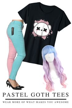 """CUTE GOTH BEAR"" - Pastel goth is more than fashion, it's a culture! Get in the pastel goth scene with this scary but cute witchy goth tshirt! Cute Goth, Pastel Goth Fashion, Kawaii Goth, Bear T Shirt, Teddybear, Scary, Culture, Shirts, Teddy Bears"