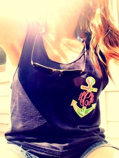 Monogrammed Tanktop with Anchor