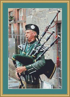 Bagpipes Cross Stitch Pattern by AvalonCrossStitch on Etsy