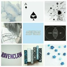'sup. — asexual ravenclaw moodboard ☁