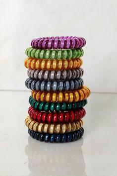 Metallic Spiral Hair Ties - 4 Pack  21b9638c9ab