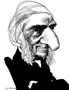 Ralph Waldo Emerson caricature
