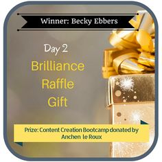 31 Days of Giving Brilliance Gifts - Day 2 winner- Becky Ebbers hosted by Brilliance and Business. Register for FREE at http://www.brillianceandbusiness.com/31-days-giving-brilliance-giveaway