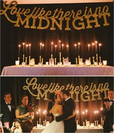 Glitzy Glam New Years Eve Wedding                              …