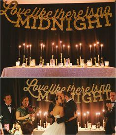 Glitzy Glam New Years Eve Wedding                              …