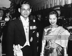 News Photo : King And Queen Of Siam Entertain. The King and...