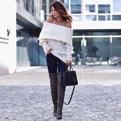 Spotted: Füsun aka shortstoriesanskirts mit unserem Overkneestiefel NINA. Wir lieben dieses Outfit! #overknees #highheels #shoes #fashion #blogger