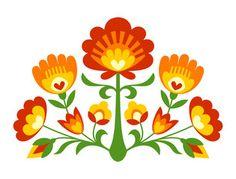 Vector: folk style flowers