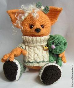 Игрушки животные, ручной работы. Ярмарка Мастеров - ручная работа Милая Лисонька. Handmade.  #LittleOwlsHut, #Pertseva, #Fox, #CrochetPattern, #Amigurumi, #FoxLiza